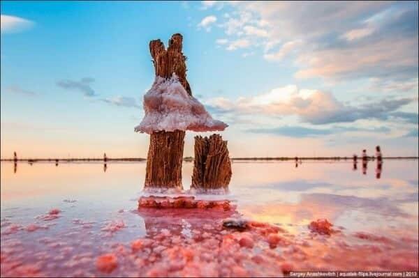 Syvach en Crimée, lagunes de sel