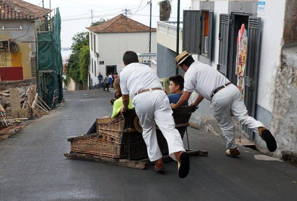 Traineaux en osiers, Carros de Cesto, Monte, Funchal, Madère