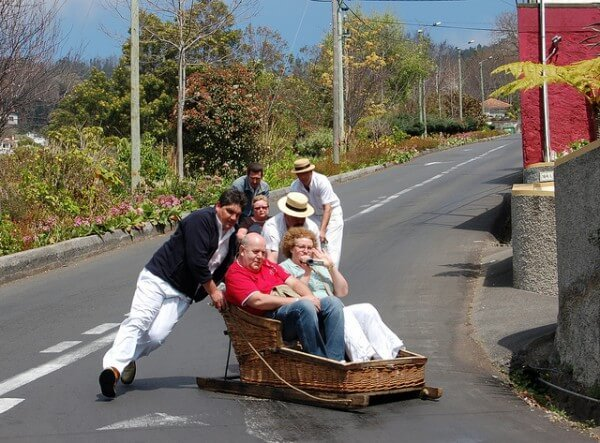 Panier Osier Funchal : Descente en tra?neau osier ? funchal mad?re