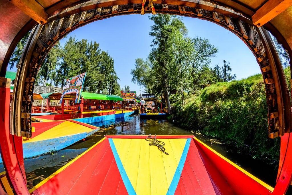 Trajineras jardins flottants Xochimilco Mexico