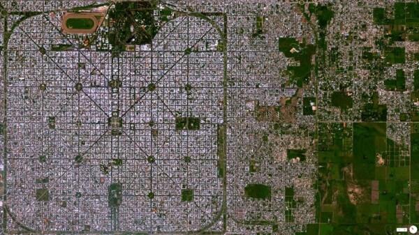 Vue satellite La Plata Buenos Aires