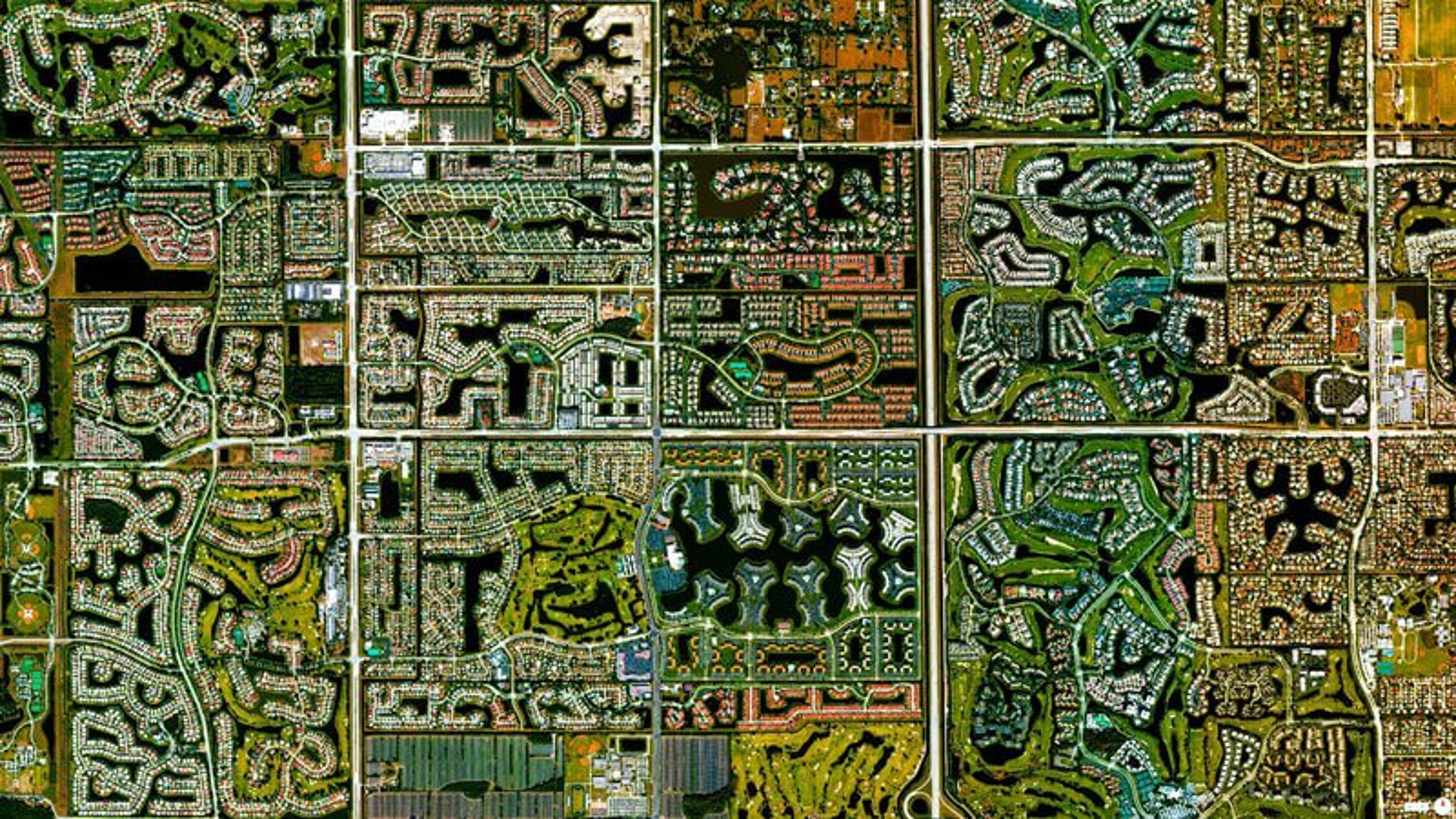 Vue satellite Boca Raton Floride