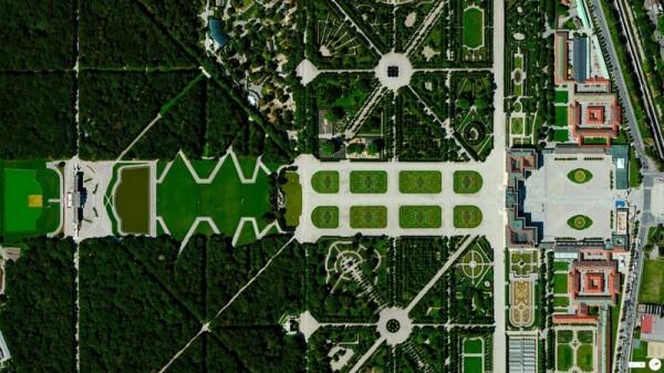 Vue satellite château Schonbrunn Vienne