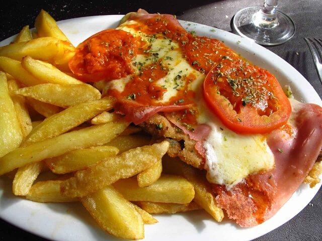 Milanesa spécialité Uruguay
