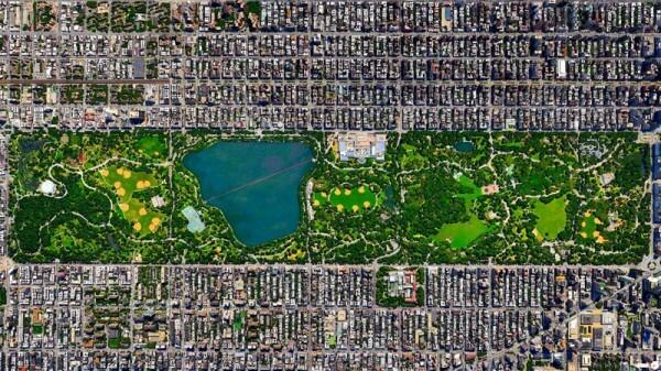 Vue satellite Central Park