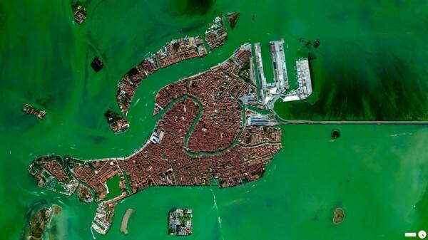 Vue satellite Venise Italie
