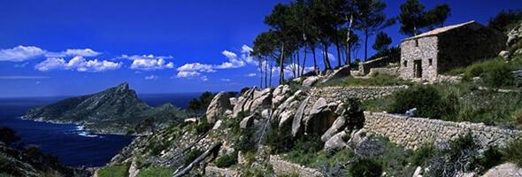 Monasterio de Sa Trapa y Isla dragonera. Andratx. Mallorca. Baleares. España