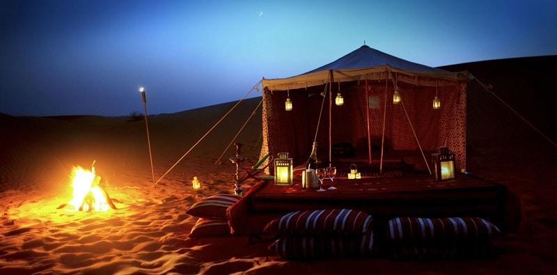 Barbecue, safari en 4x4 à Dubai
