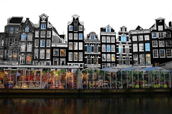Bloemenmarkt, Marché aux fleurs d'Amsterdam