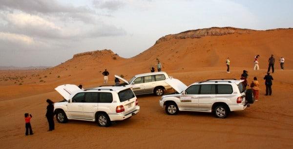 À Dubaï, il est possible de faire un safari en 4×4 dans le désert