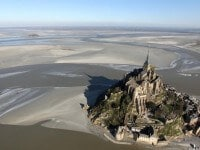 Mont-Saint-Michel, vue aérienne
