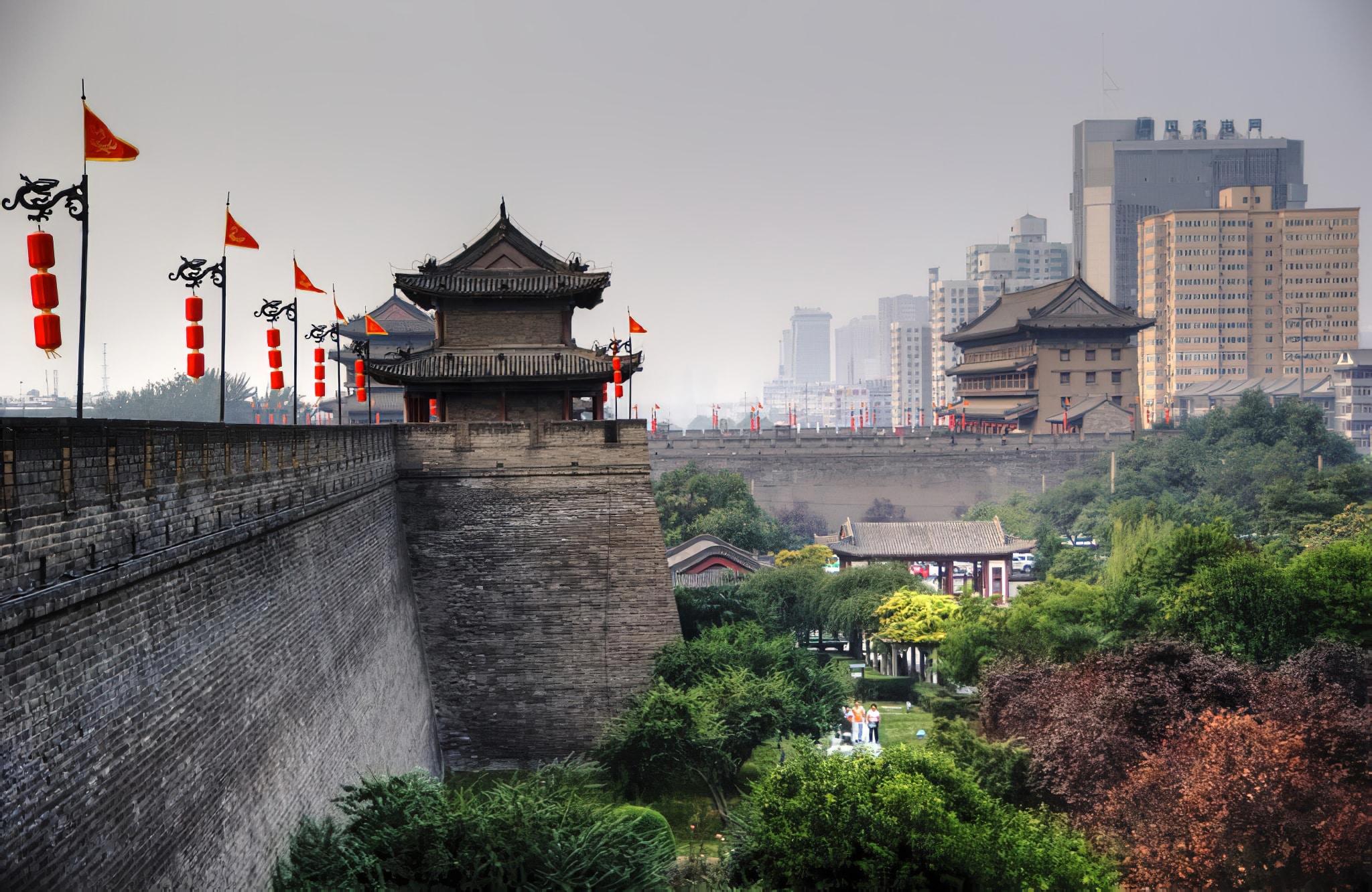 Les remparts de la cité de Xi'an en Chine