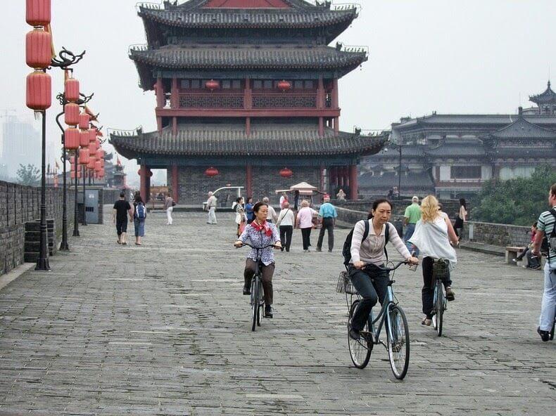 Muraille de Xi'an, cité de Xian, Chine
