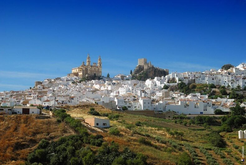 Olvera, route des villages blancs, Andalousie, Espagne
