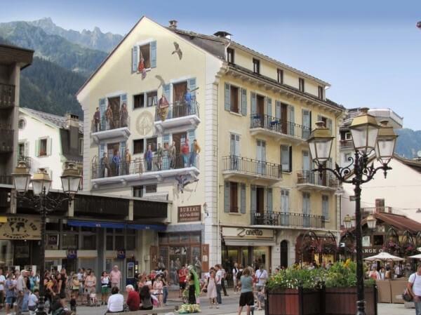 Patrick Commecy trompe-l'oeil Mont Blanc