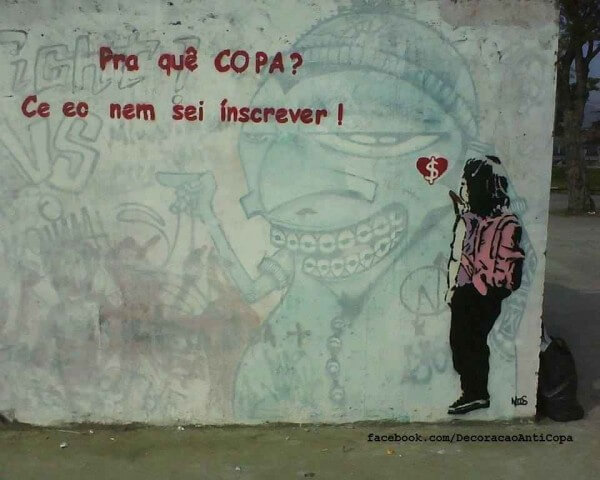 Street-art Coupe du Monde FIFA Brésil