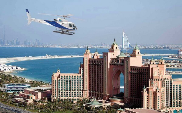 Survol de Dubaï en hélicoptère