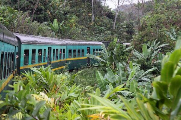 Voyage en train à Madagascar