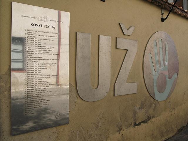 Užupis constitution, Vilnius