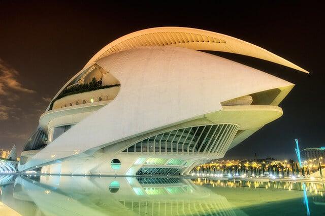 Cité des arts et des sciences de Valence en Espagne