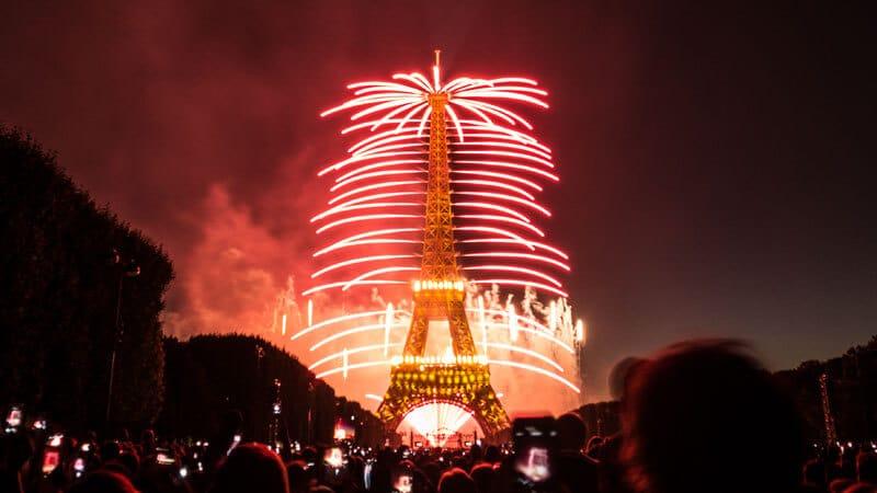 feux d'artifice du 14 juillet 2014 sur la Tour Eiffel