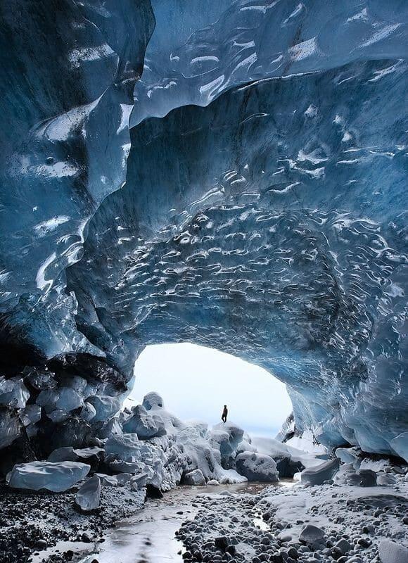 Grotte de glace, Skaftafell, glacier Islande
