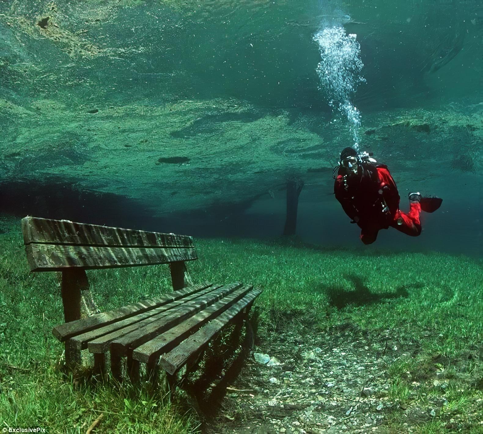 Grüner See, un parc qui se transforme en lac en été