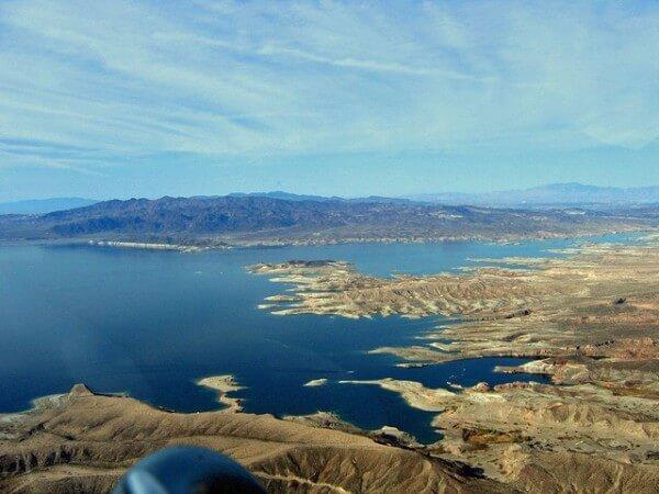 Lac Mead, survol en hélicoptère depuis Las Vegas