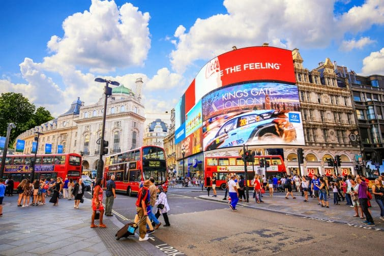Picadilly Circus, incontournable à faire à Londres
