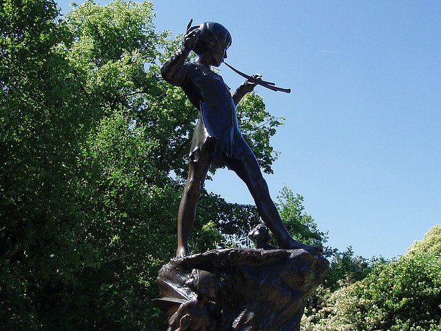 Peter Pan, Kensington Gardens, Londres