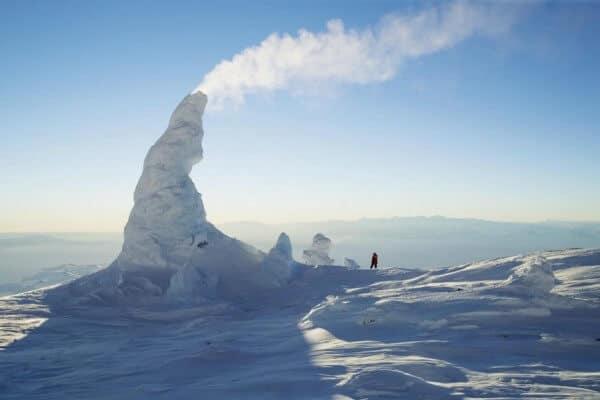 cheminées de neige