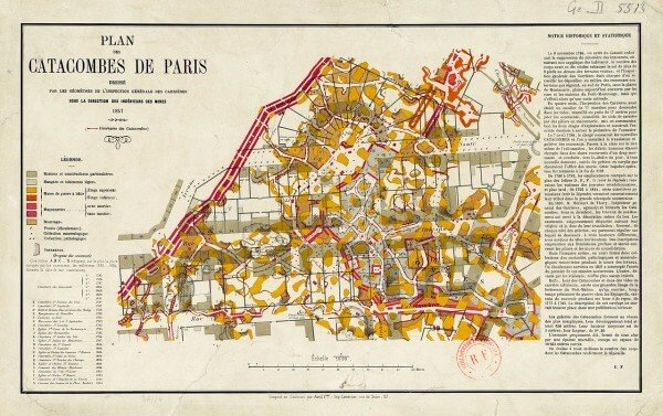 Plan des catacombes de Paris