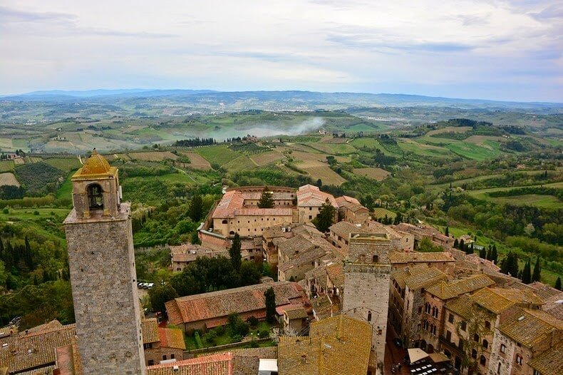 San Gimignano et ses maisons-tours en Toscane, Italie
