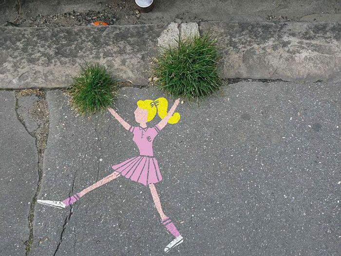 Street-art en interaction avec la nature et l'environnement
