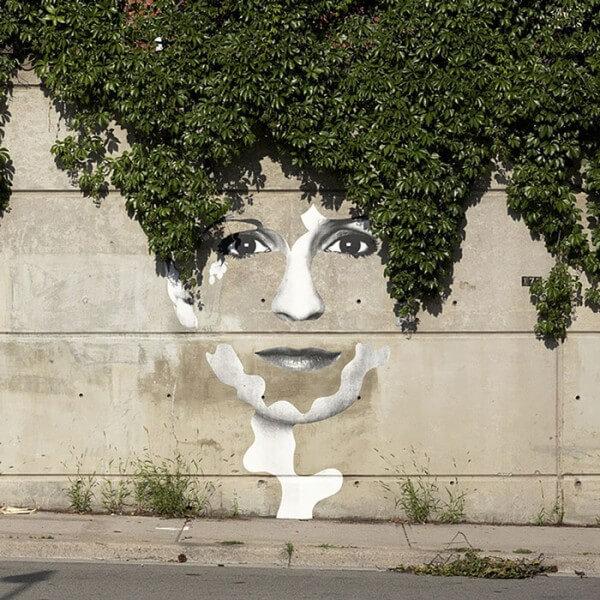 35 œuvres de street-art en interaction avec la nature