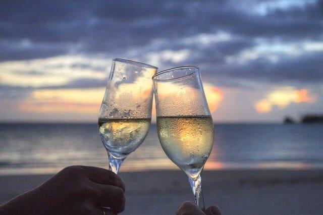Voyage de noces, Lune de miel, champagne, voyage