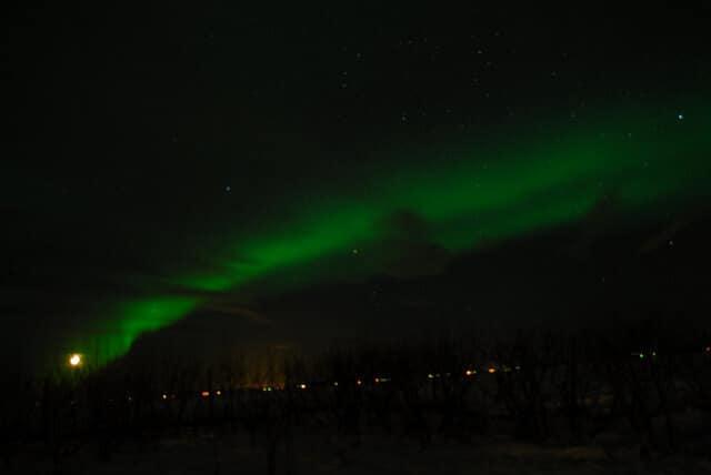 Aurores boréales, Reykjavik, Islande