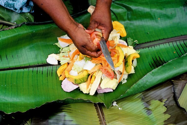 Bougna tribu mélanésie Nouvelle Calédonie