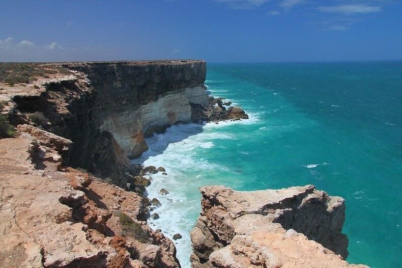 Bunda Cliffs, falaises de Bunda, en Australie