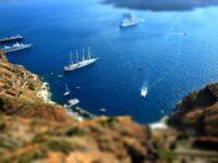 Croisière sur les plages de Santorin en Grèce