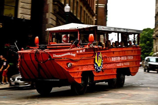 Duck boat Boston, Boston duck tour, Véhicule amphibie