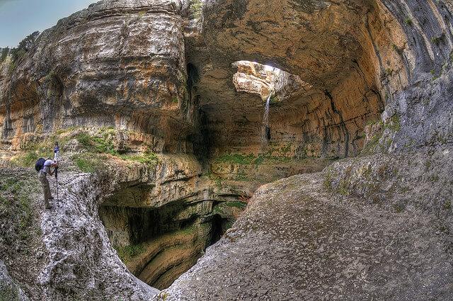 Gouffre des Trois Ponts, cascade de Baatara, Liban