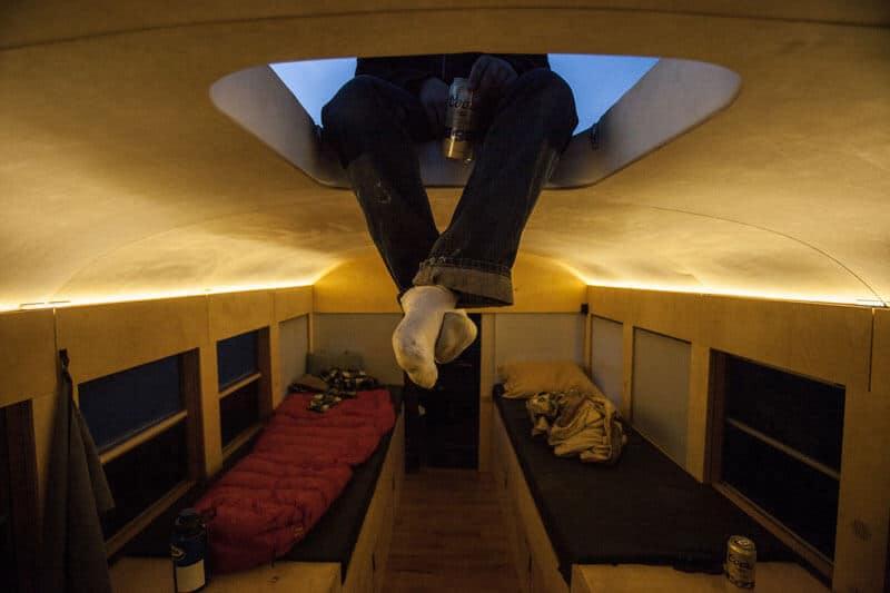Hank Butitta design bus scolaire road trip aux Etats-Unis