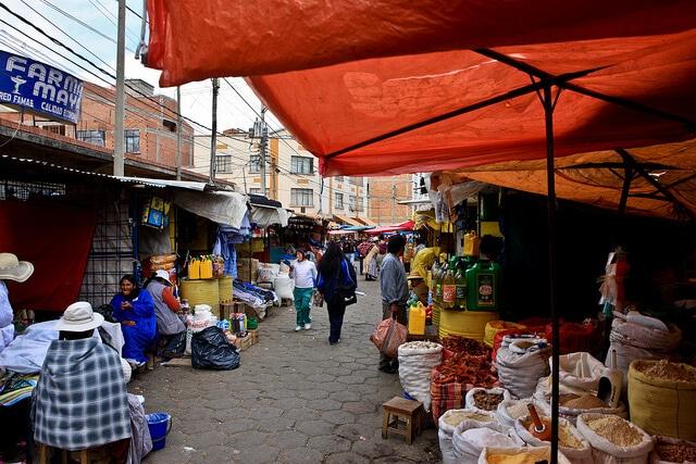 Marché El Alto, La Paz, Bolivie