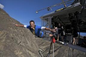 Nevis Bungy Jump, saut a l'élastique Queenstown, Nouvelle Zélande
