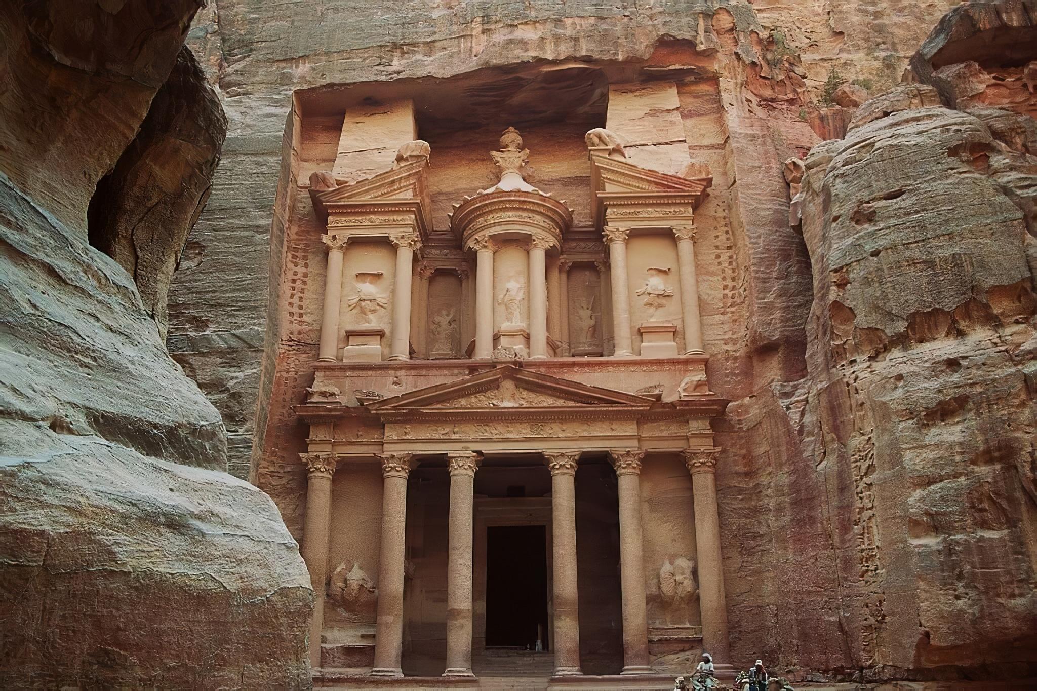 Petra, Khasneh, Trésor, Jordanie