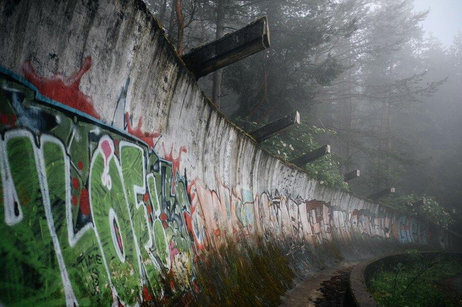Piste de bobsleigh abandonnée de Sarajevo, Mont Trebevic, Bosnie
