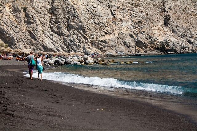 Plage de Perissa, Croisière sur les plages de Santorin en Grèce