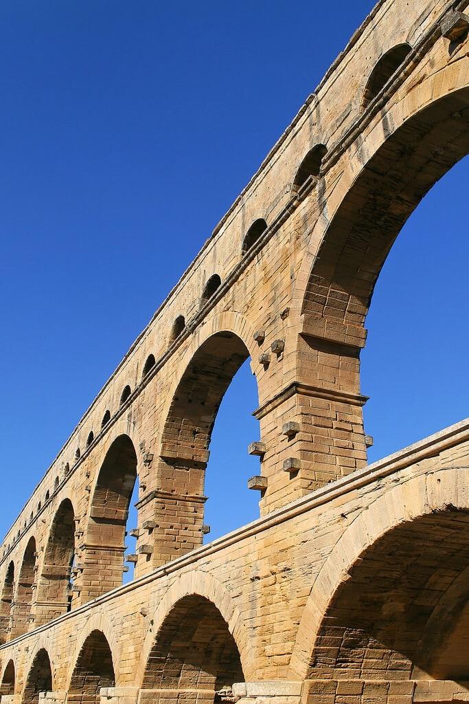 Pont Du Gard vue de dessous