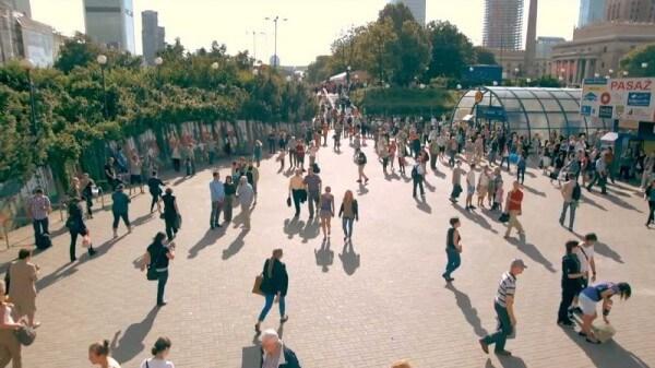 Varsovie s'arrête de vivre 1 minute chaque année